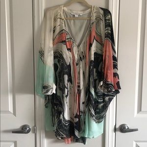 DVF Watercolor dress